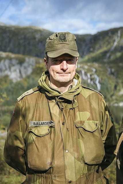 Kaptein og områdesjef Bjørn Ragnar Larsen i Lofoten Heimevernsområde 16201