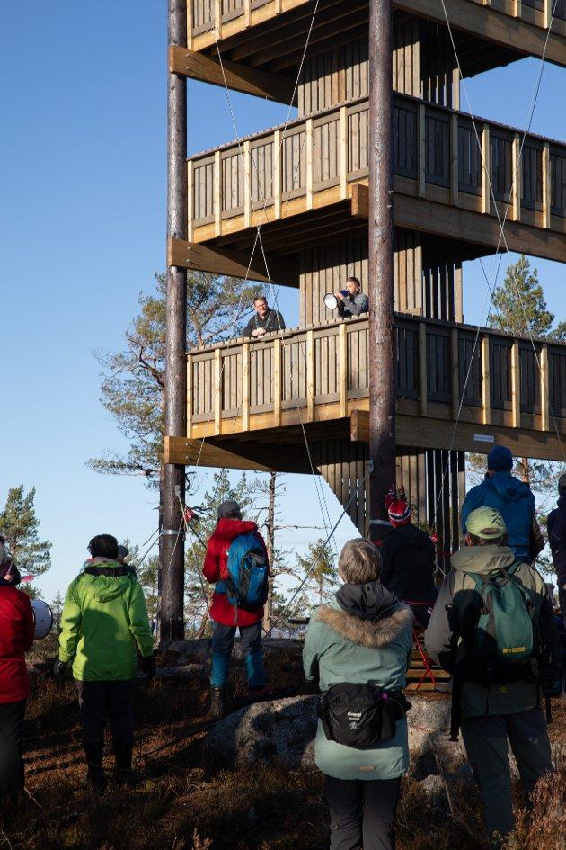 Åpning av utkikkstårnet på Mjærskaukollen.