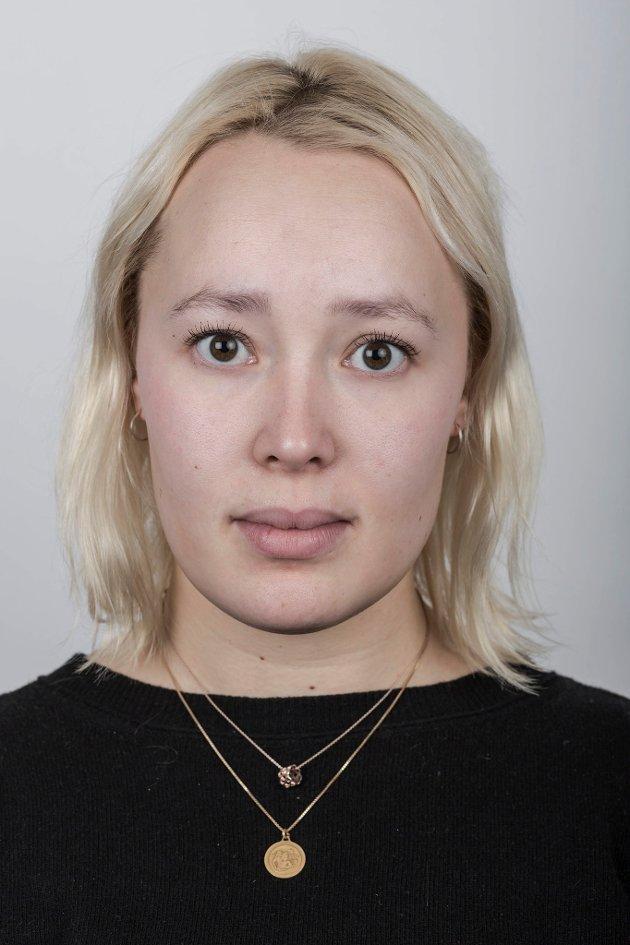 Praktikantane på Nynorsk Avissenter Kull 12 (Våren 2019).  Pernille Fjørtoft Grøsvik.