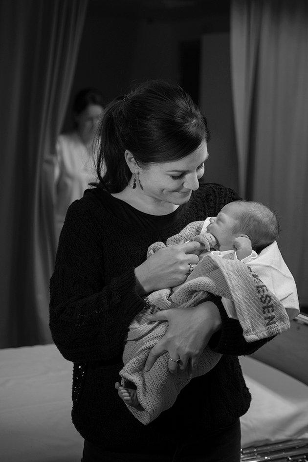 Et av 22 bilder Eva Rose har gitt bort til fødeavdelingen på Lillehammer sykehus.