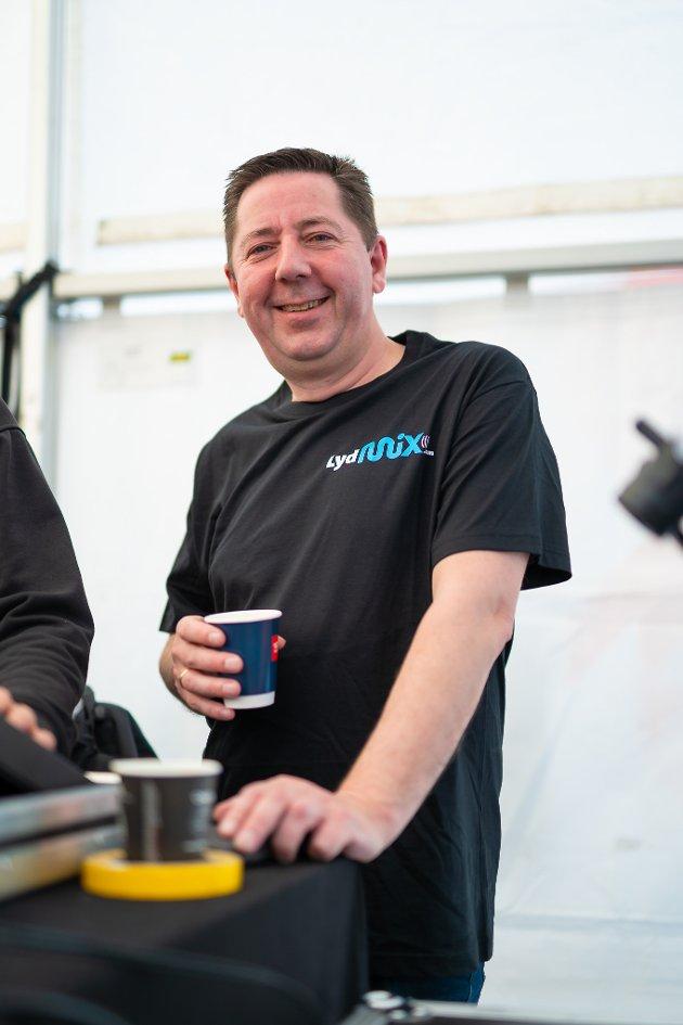 Lasse Antonsen fra teknisk leverandør Lydmix.