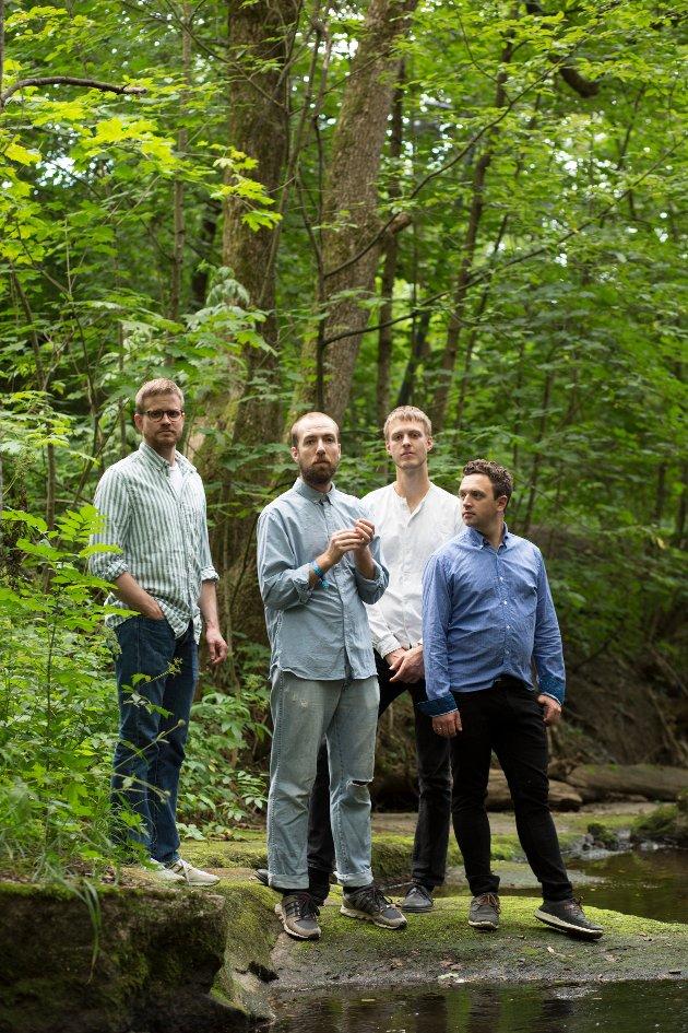 Thomas Torstruo, til høyre, sammen med sin utmerkede kvartett.