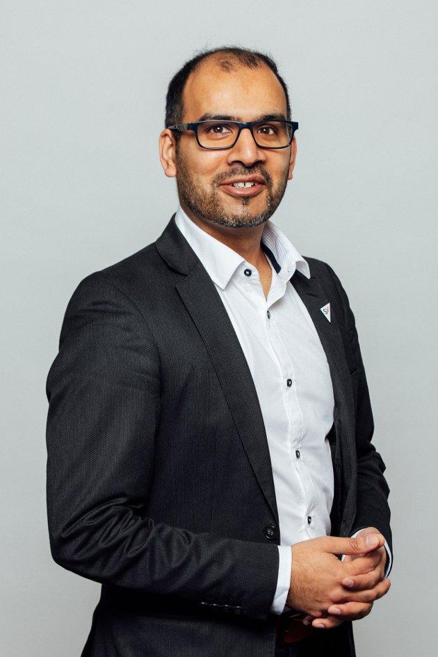 Ordførerkandidat Mahmod Ahmad i Ullensaker SV