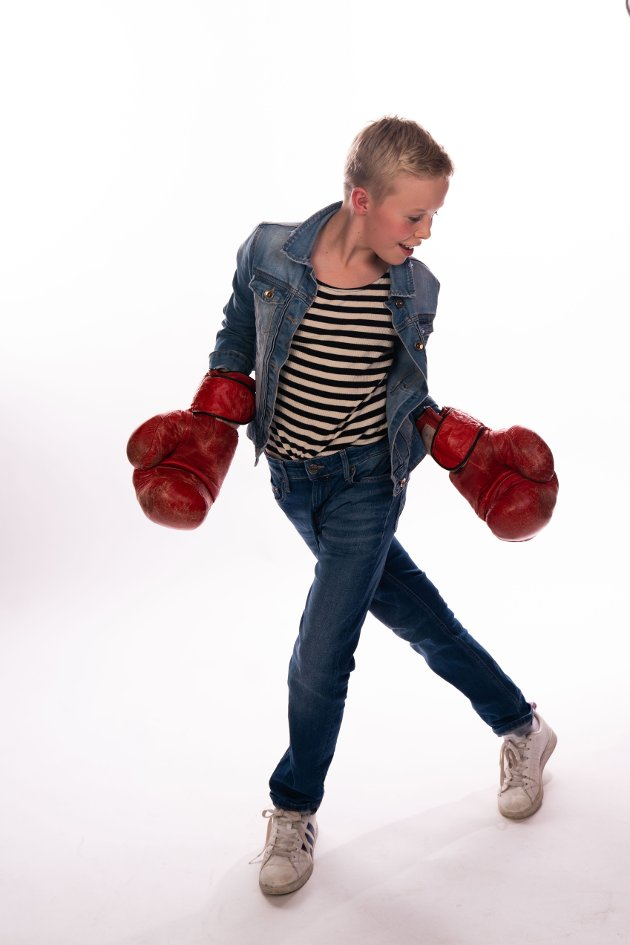 Alexander Gløtta (12) fra Rælingen i rollen som Billy Elliot