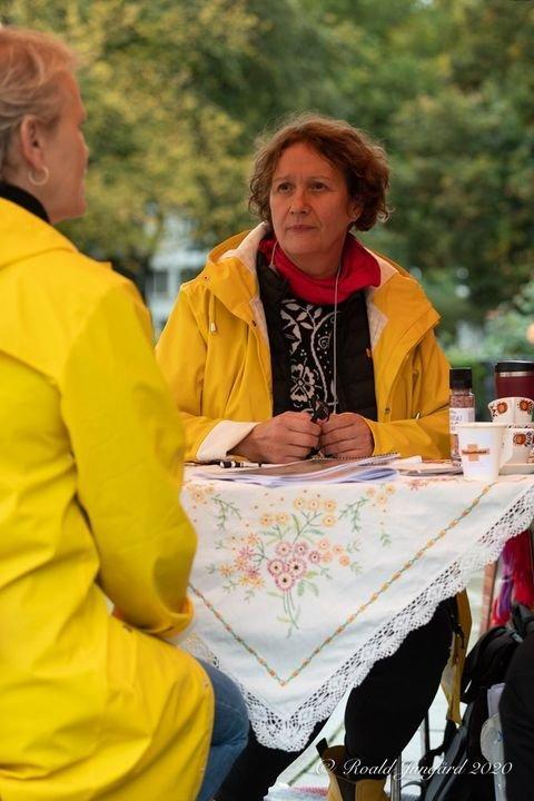 Irene Ojala, Pasientfokus på kafédialog Eidsvolls Plass 5. og 6 oktober 2020.
