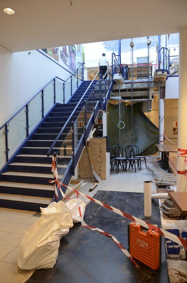 Nye rulletrapper på Smietorget i 2014.