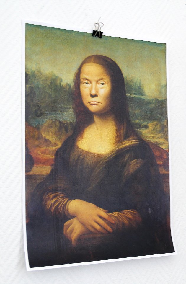 Trump i Mona Lisas drakt - hva tenker han egentlig på?