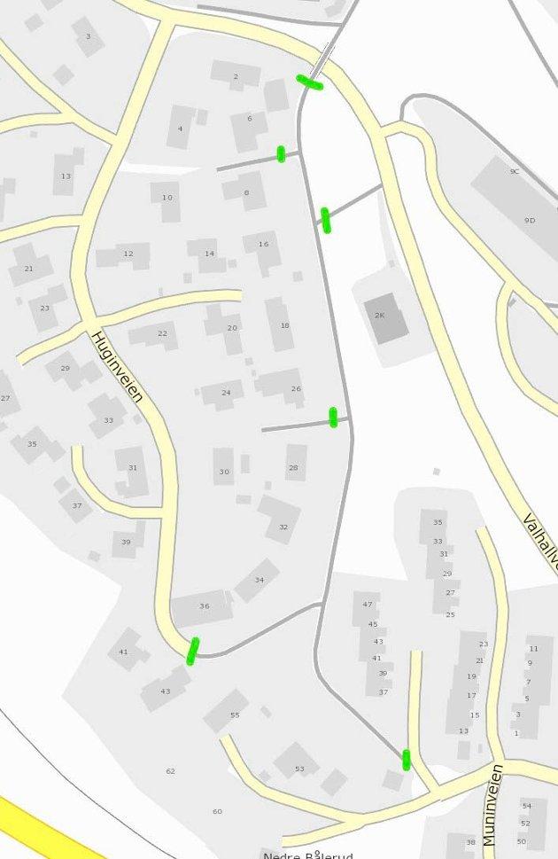 HERADSBYGDA: Gang- og sykkelveien mellom Muninveien og Valhallveien er asfaltert.
