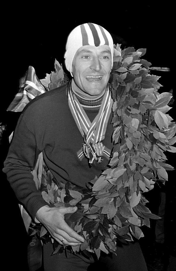 VERDENSREKORD: Fred Anton Maier satte verdensrekord med 7,28,1 på 5000 meter 5. mars 1965.