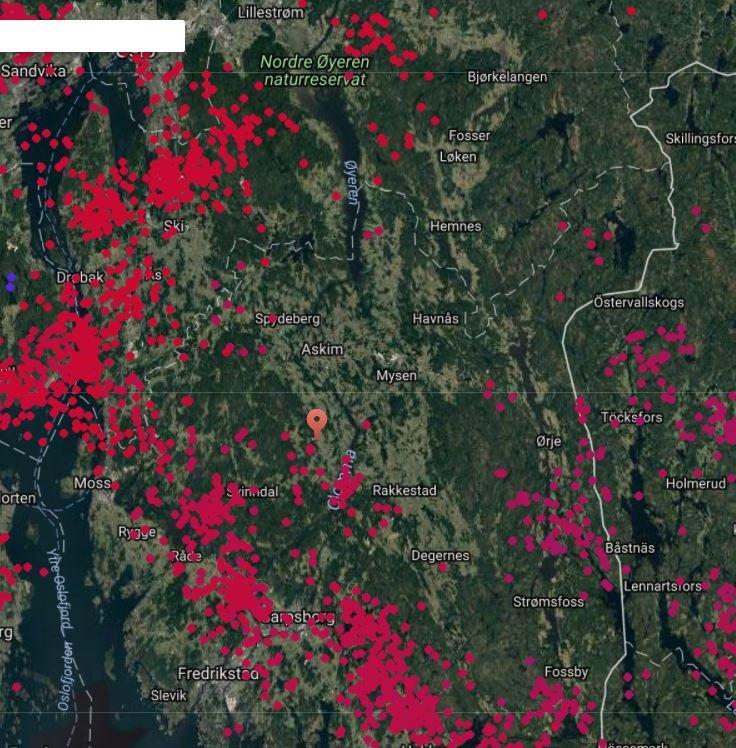 lyn og torden kart Smaalenenes Avis   Dette kartet viser hvor lyhar slått ned lyn og torden kart