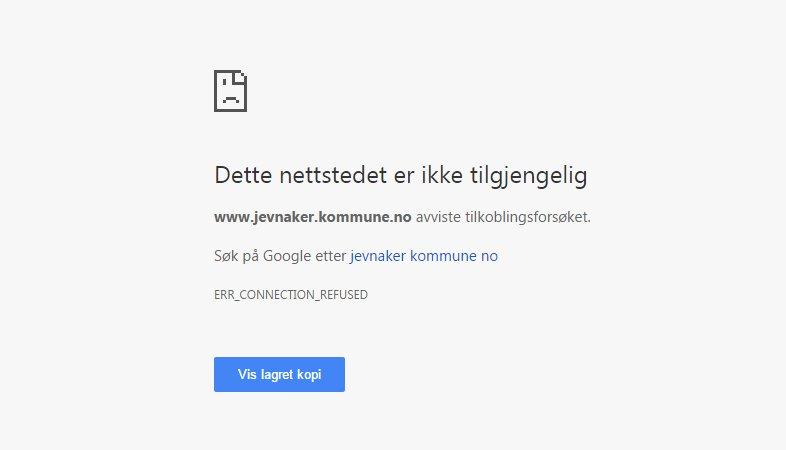 Ringerikes Blad - Kommunens nettsider er nede