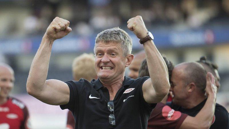Brann-trener Lars Arne Nilsen etter borteseieren (1-2) mot erkerival Rosenborg. *** Local Caption *** Rosenborg - Brann 1-2 Lars Arne Nilsen