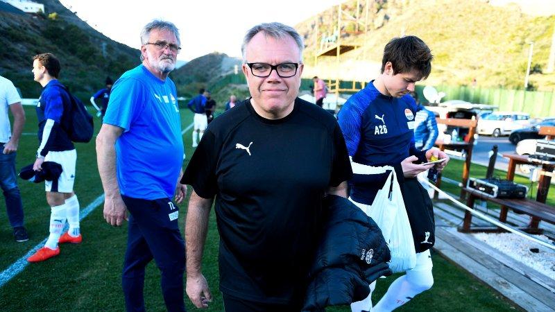Strømsgodset - Stabæk. 1-0. Treningskamp i Spania. Daglig leder i SIF Dag Lindseth Andersen etter kampen