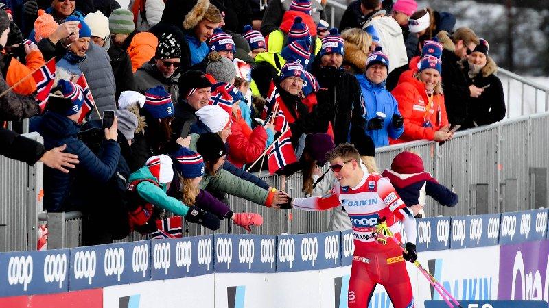 Johannes Høsflot Klæbo vant herrenes finale i World Cup sprintetn 2020 på Konnerud i Drammen