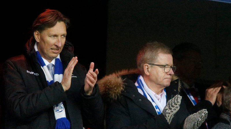 Oslo 0812 2019 Cupfinale 2019 FK-Haugesund - SK-Viking. Leiv Helge Kaldheim og Ole Henrik Nesheim
