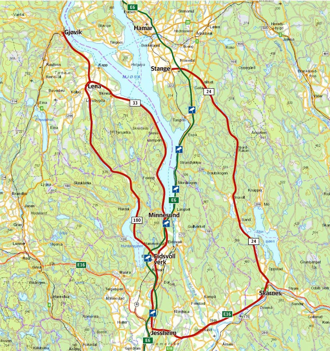 kart over hurdal Romerikes Blad   Se de bomfrie veiene kart over hurdal