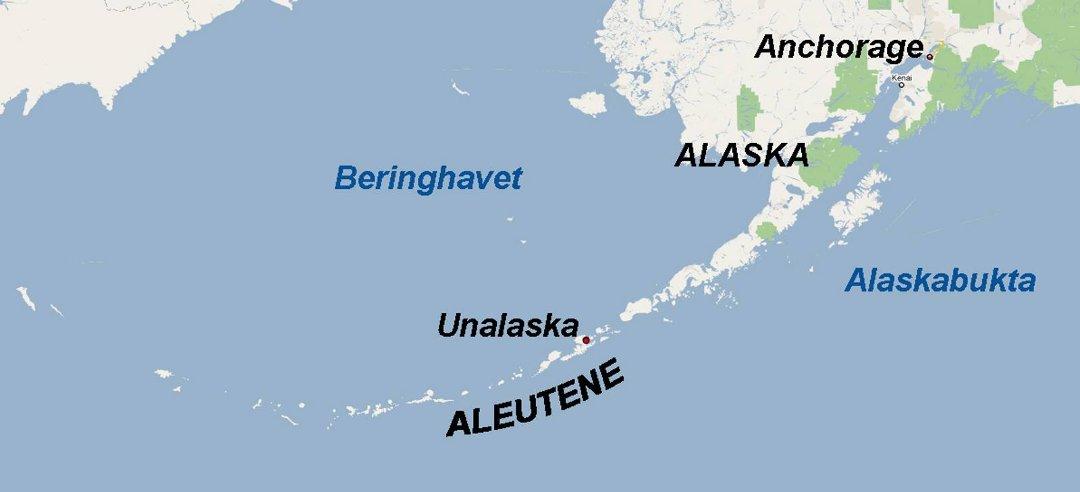 beringhavet kart Siste   Kraftig jordskjelv i Alaska beringhavet kart