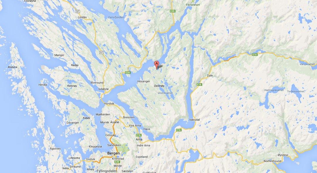 kart osterøy Bergensavisen   Arbeidsulykke på Osterøy kart osterøy