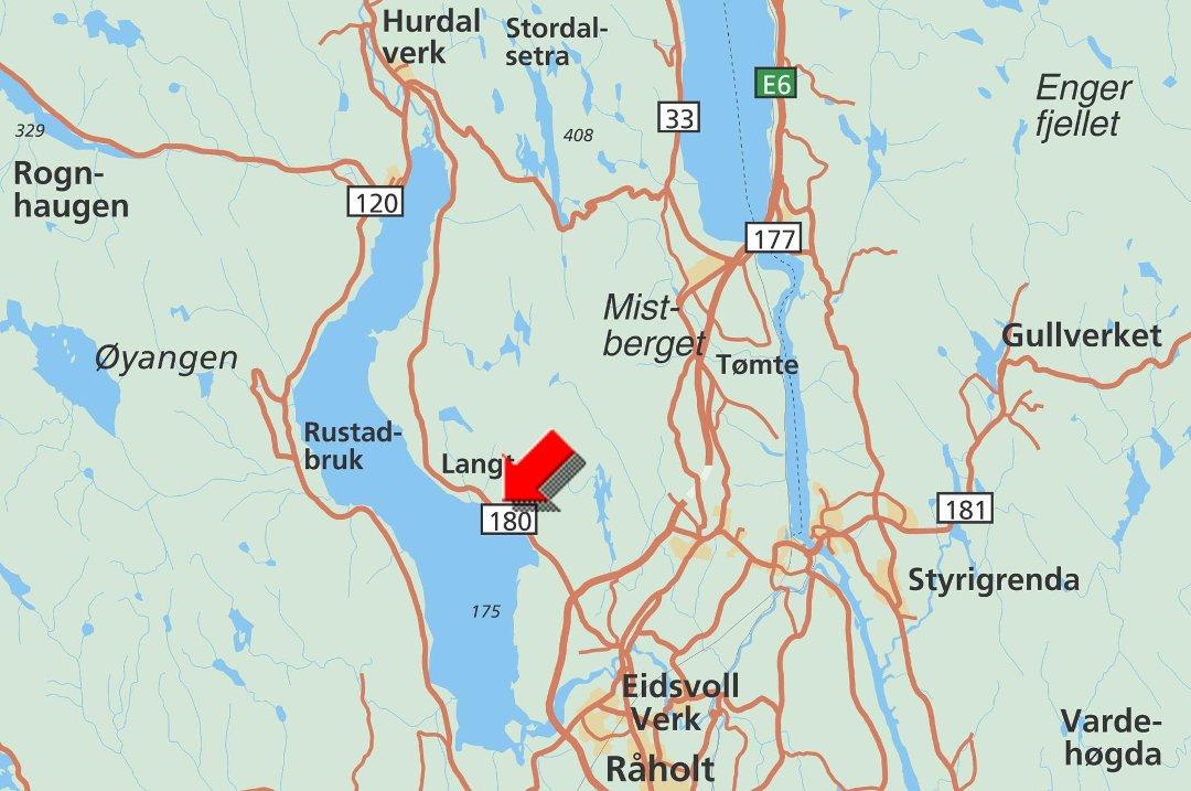 kart over hurdal Romerikes Blad   Veltet septikbil sperret veien inn til Hurdal kart over hurdal