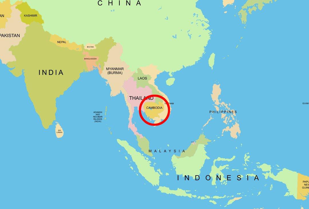 kambodsja kart Tidens Krav   Nordmøring fengslet i Kambodsja kambodsja kart