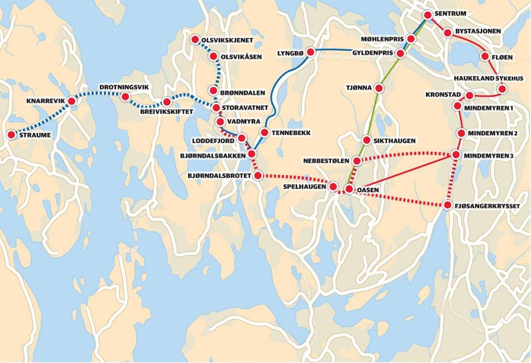 kart fyllingsdalen Bergensavisen   Bare én opplagt trasé til Dalen kart fyllingsdalen