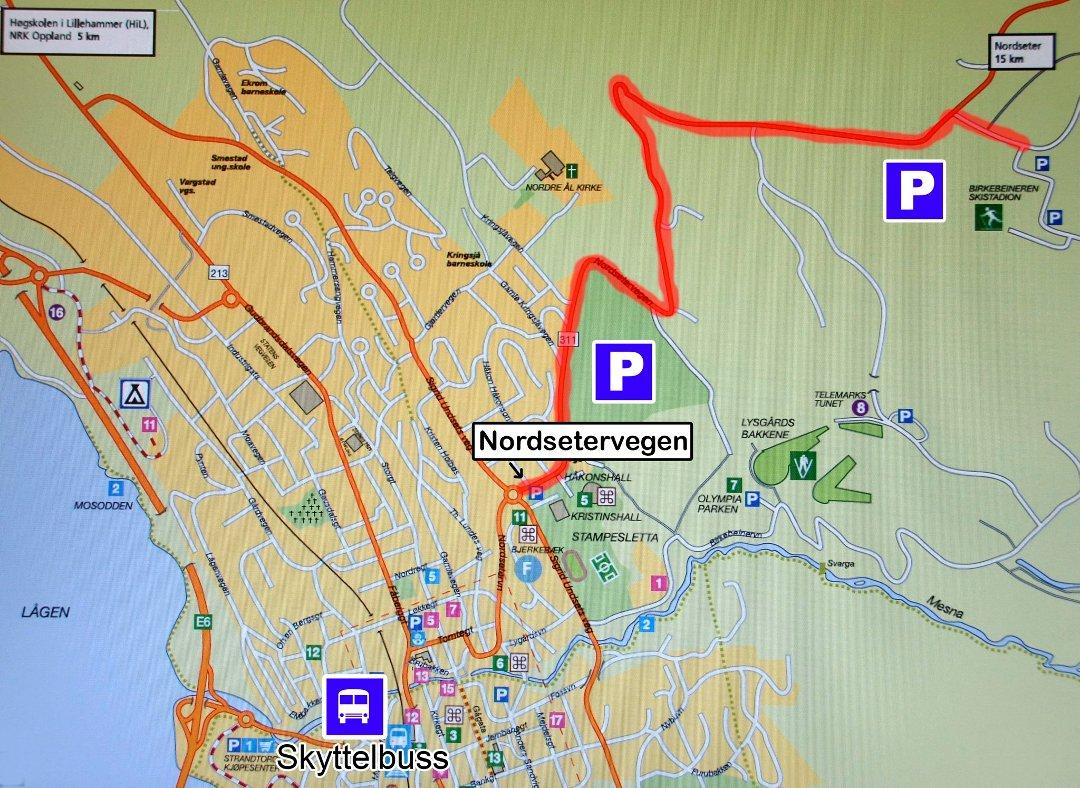 kart lillehammer sentrum Gudbrandsdølen Dagningen   Slik kommer du deg til skifesten kart lillehammer sentrum