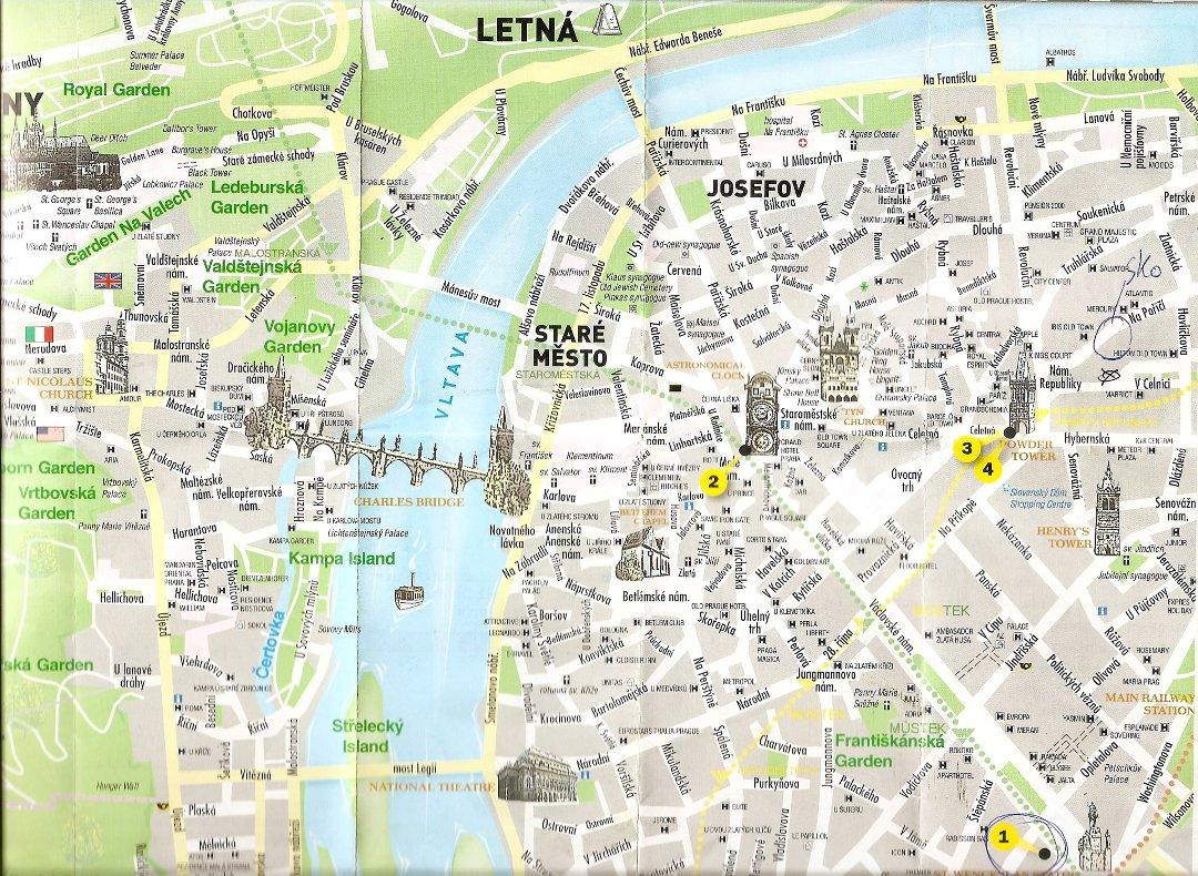 kart over praha Østlands Posten   På tur med tre brødre til Praha kart over praha