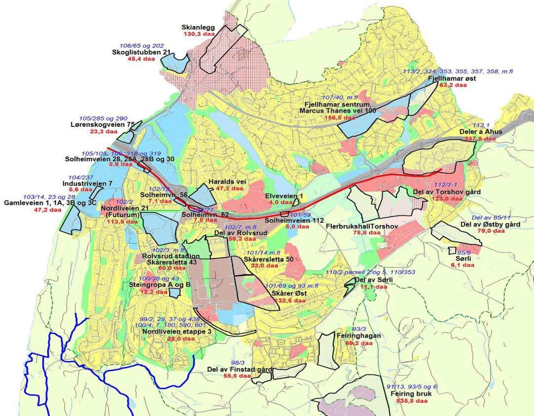kart over lørenskog Romerikes Blad   Ahus bane viktigst mot 2025 kart over lørenskog