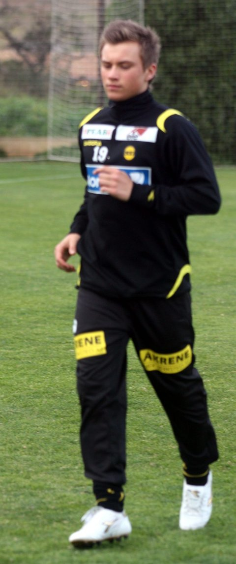 I TRENING: Fredrik Gulbrandsen.
