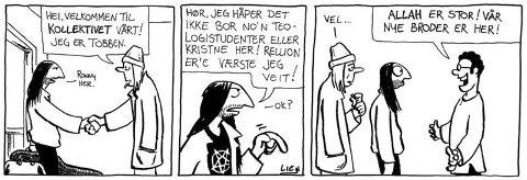 """SUKSESSEN: Den aller første stripa av """"Kollektivet"""" dukket opp i Larssons gale verden i år 2000. Resten er tegneseriehistorie."""