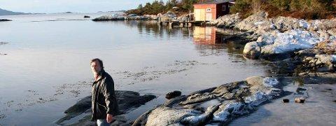 Magne Hovland, ei av eldsjelene bak strandprosjektet på Sørstrand. Arkivfoto