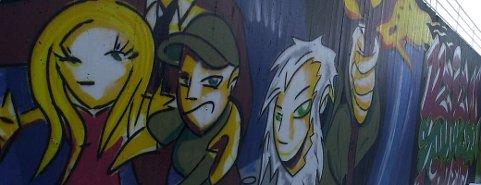 Grafitti på en kirkevegg i Olsvik. Nå kan også fyllingsdølene få slik kunst.