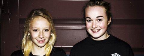 KRETSKLARE: Katrine Hansen frå Kvernbit og Miriam Louise Seim frå NBK er klare for kretslaget.