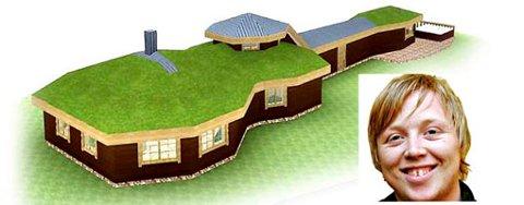 Kurt skal ikke sette strenger på taket av hytten sin, slik en kar fra Nettavisen skrev.