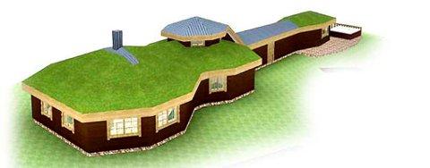 Slik ser den fremtidige hytten til Kurt Nilsen ut på planstadiet.