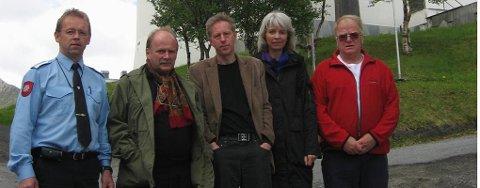 Arbeidsgruppen for minnekorset: Fra venstre: Hans Bjørnstad, William Hakvåg, Bjørn Kenneth Hansen, Ranveig Gjevre, Ernst Wangsvik