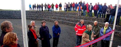 Torsdag be Lofotens turistvei åpnet av samferdselsminister Navarsete.