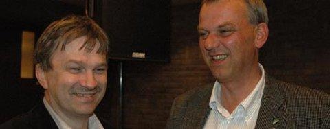 UTRADISJONELT SAMARBEID:  Kjell B. Hansen (Ap) og Runar Johansen (H) skal lede Ringerike kommune sammen de neste fire årene. Førstnevnte som ordfører, sistnevnte som varaordfører.