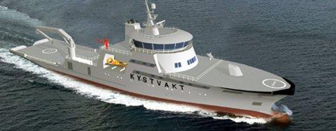 Kystvaktens nye gasskip i Barentshav-klassen.