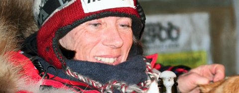 SUPERDUO: Elisabeth Edland med hunden Ettan i front satte alle til veggs i Gausdal Maraton i helgen.  FOTO: KNUT ERIK LANDGRAFF