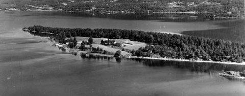 HERØYA: Slik så det ut på Herøya på 60-tallet.