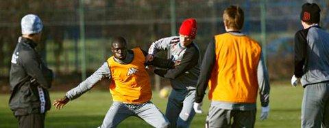 Brannspillere på trening i Liverpool.