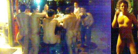 Her er soldatene nakne på pub i Harstad.