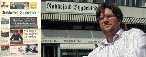 Lørdag kommer Rakkestad Bygdeblad med sin siste utgave. (fotomontasje)
