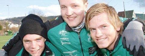 Terje Andreassen (f.v.), Kjetil Guterud og Eirik Fossesholm er klare for andre kvalifiserende runde i NM.