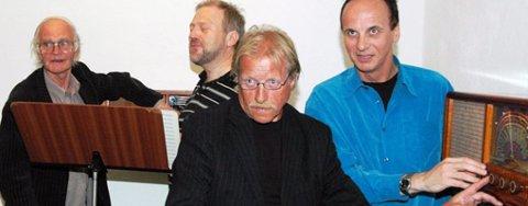 Fra venstre komponist Sigmund Lillebjerka, festivalprofil Ketil Hugaas, orkesterforenings-cellist Paul Edvindsen, sinfonietta-trompetist Øystein Felberg.