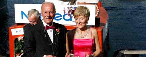 - Det var helt fantastisk å bli viet på Beffen, sier brudeparet Petra Marie Hansen Hilt og Johan Christian Hilt.