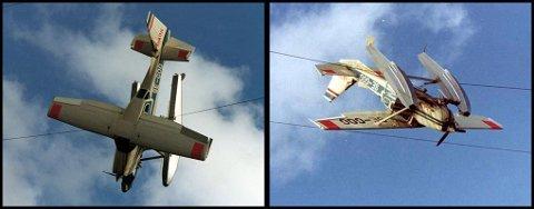 I 1976 ble dette flyet hengende i ei høyspentledning.