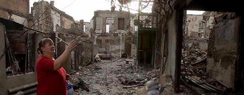 Sør-Ossetias hovedstad Tshkinvali ble lagt i ruiner av georgiske styrker.