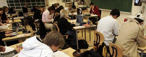 HAR SAGT SITT: En ny ungdomsundersøkelse viser at ungdomsskoleelevene I Eidsvoll og Hurdal stor sett er fornøyde med tilværelsen. FOTO: SCANPIX